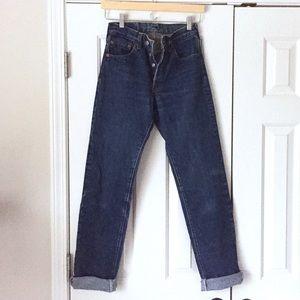 Vintage Levi's 501 high waisted mom jeans 27x36